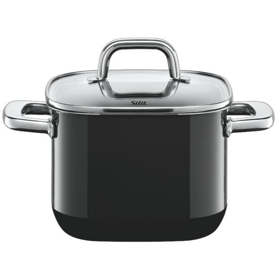 Silit Quadro főzőedény 18cm 3,7l fekete