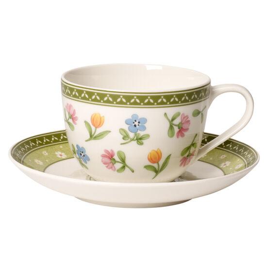 """V&B Farmers Spring kávés csésze + alj """"Virágos rét"""""""