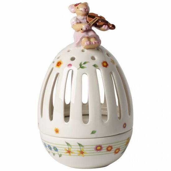 V&B Spring Decoration tojás mécsestartó hegedülő nyuszival