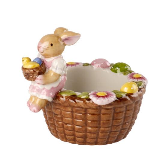 V&B Bunny Family mécsestartó kosár, Nyuszi lány