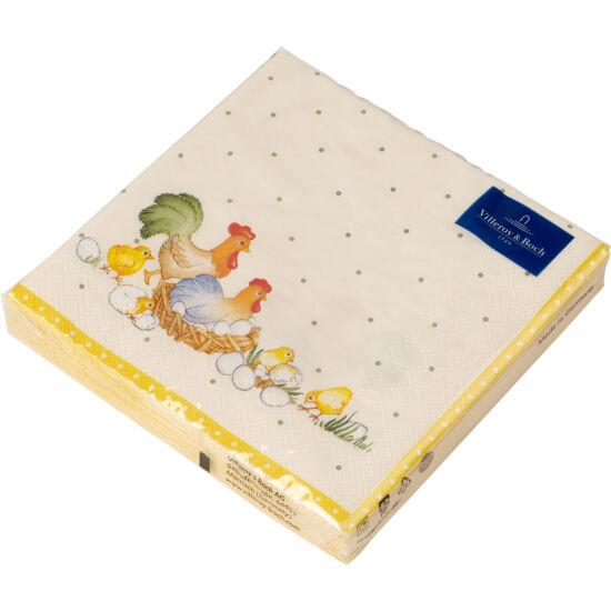 V&B Easter Accessories Spring Fantasy szalvéta csomag nagy, Tyúk család